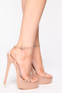 Unreachable Heeled Sandals - Nude Angle 1
