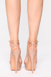Unreachable Heeled Sandals - Nude Angle 4