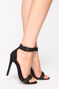 Because Of You Heeled Sandals - Black