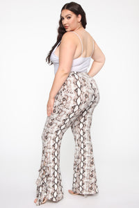 Queen Of The Jungle Flare Pants - Snake Angle 12
