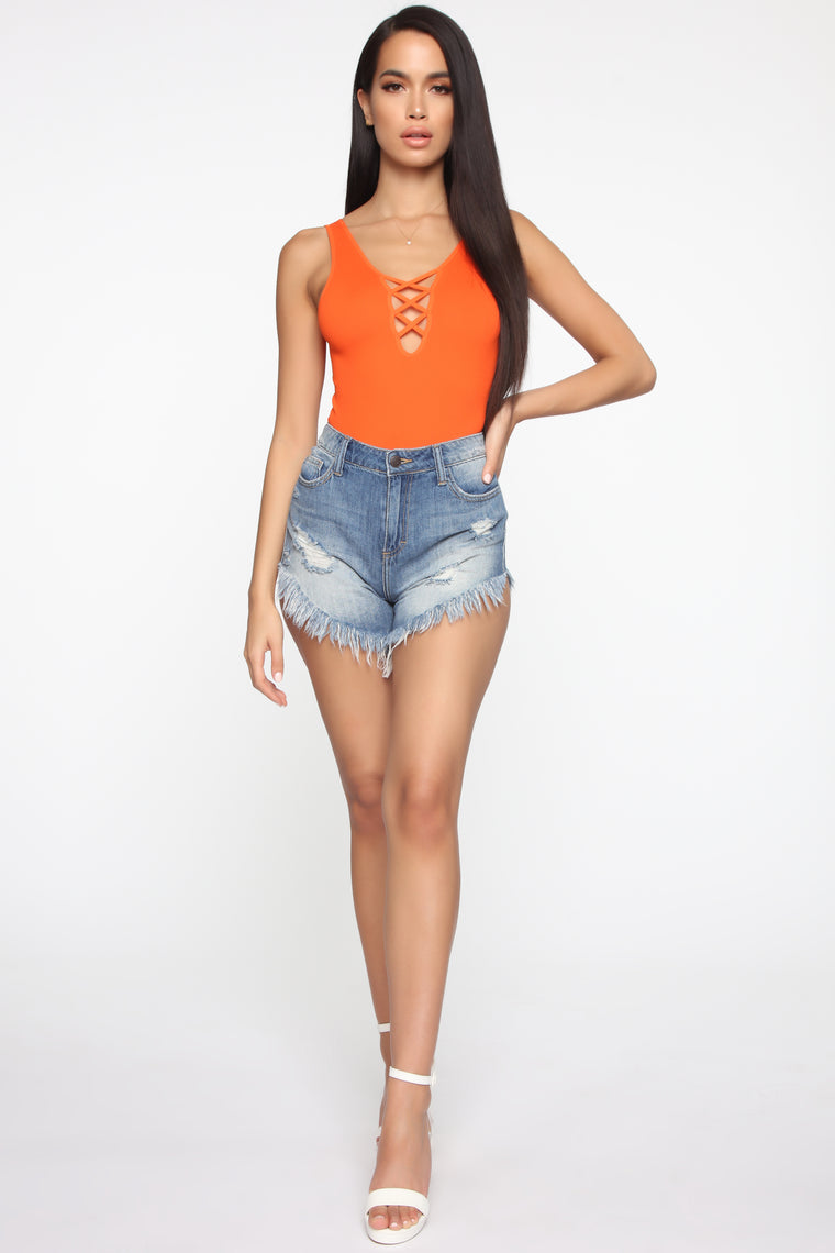 One Step Closer Bodysuit - Orange