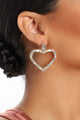 Care For Me Heart Earrings - Gold/Clear