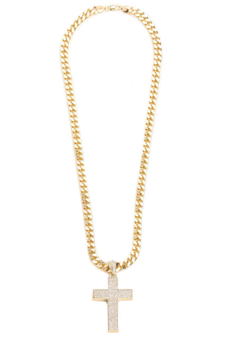 Cross Chain Necklace - Gold