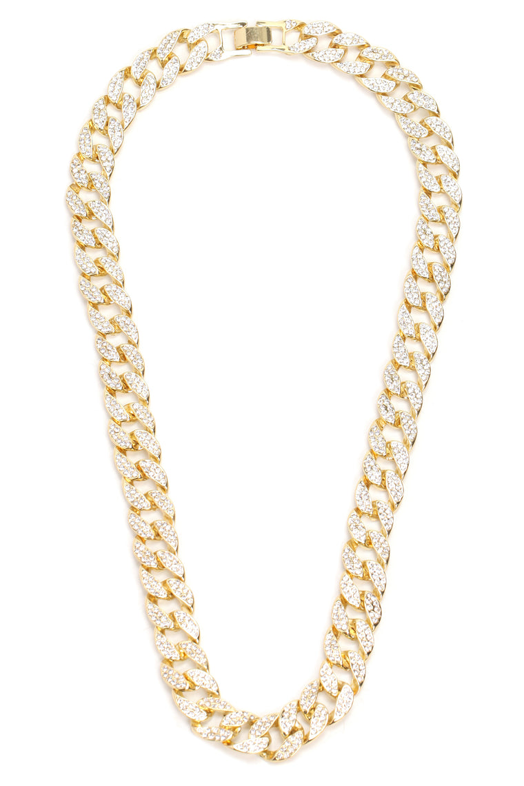 Big Gold Chain Necklace - Gold