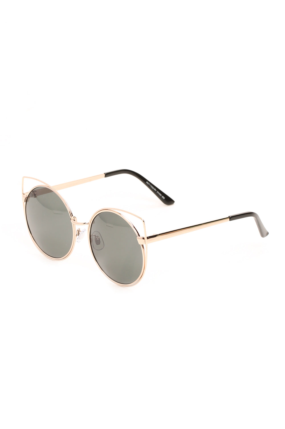 I Know Everything Sunglasses - Gold/Green
