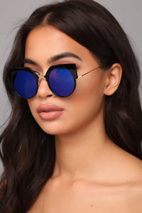 Say Nothing Sunglasses - Blue