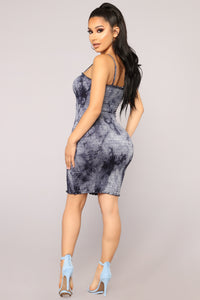 Freshwater Tie Dye Dress - Navy