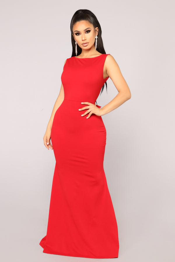 45f58017a0 Such A Lady Ruffle Dress - Red