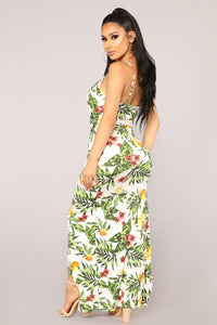 Mile High Club Tropical Dress - White