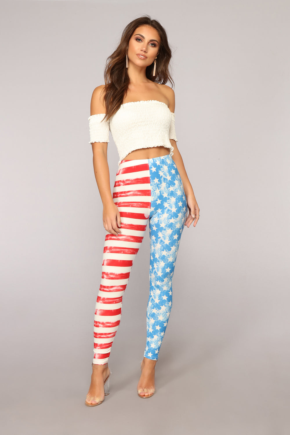 I'm Your National Anthem Print Leggings - MultiColor
