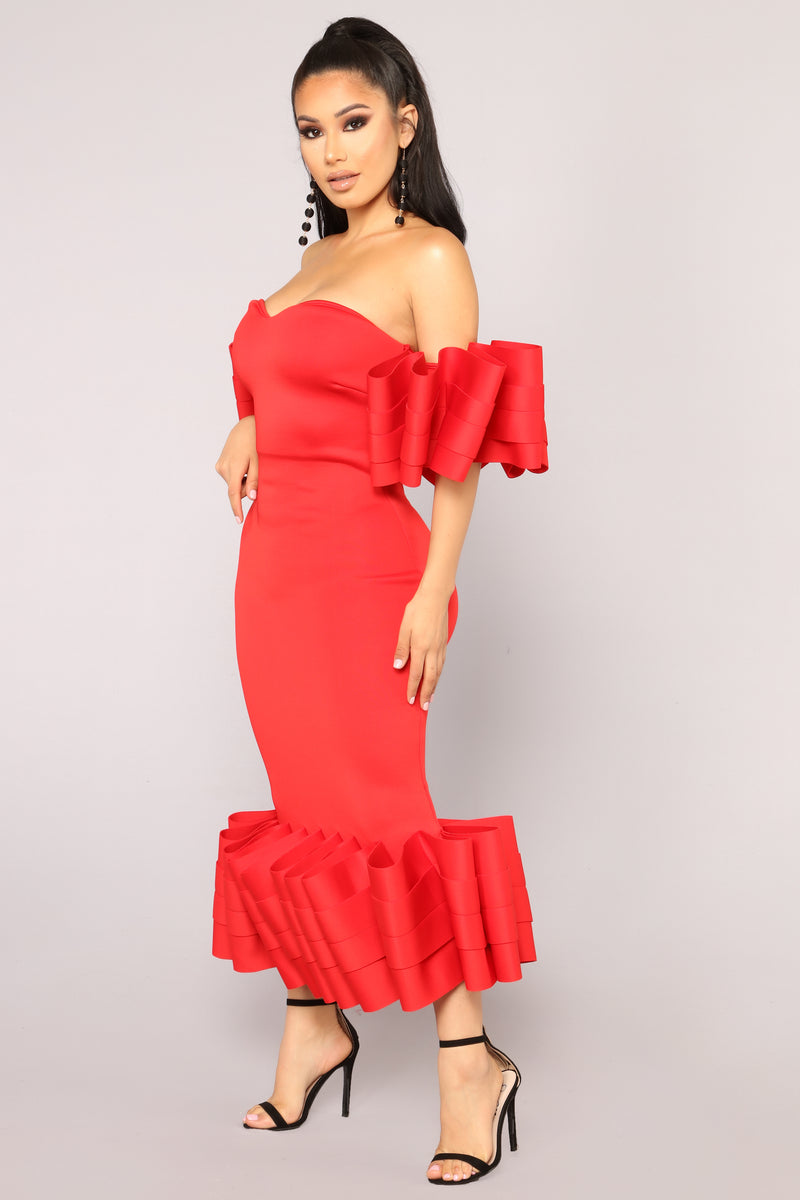 F'N Salty Mermaid Dress - Red