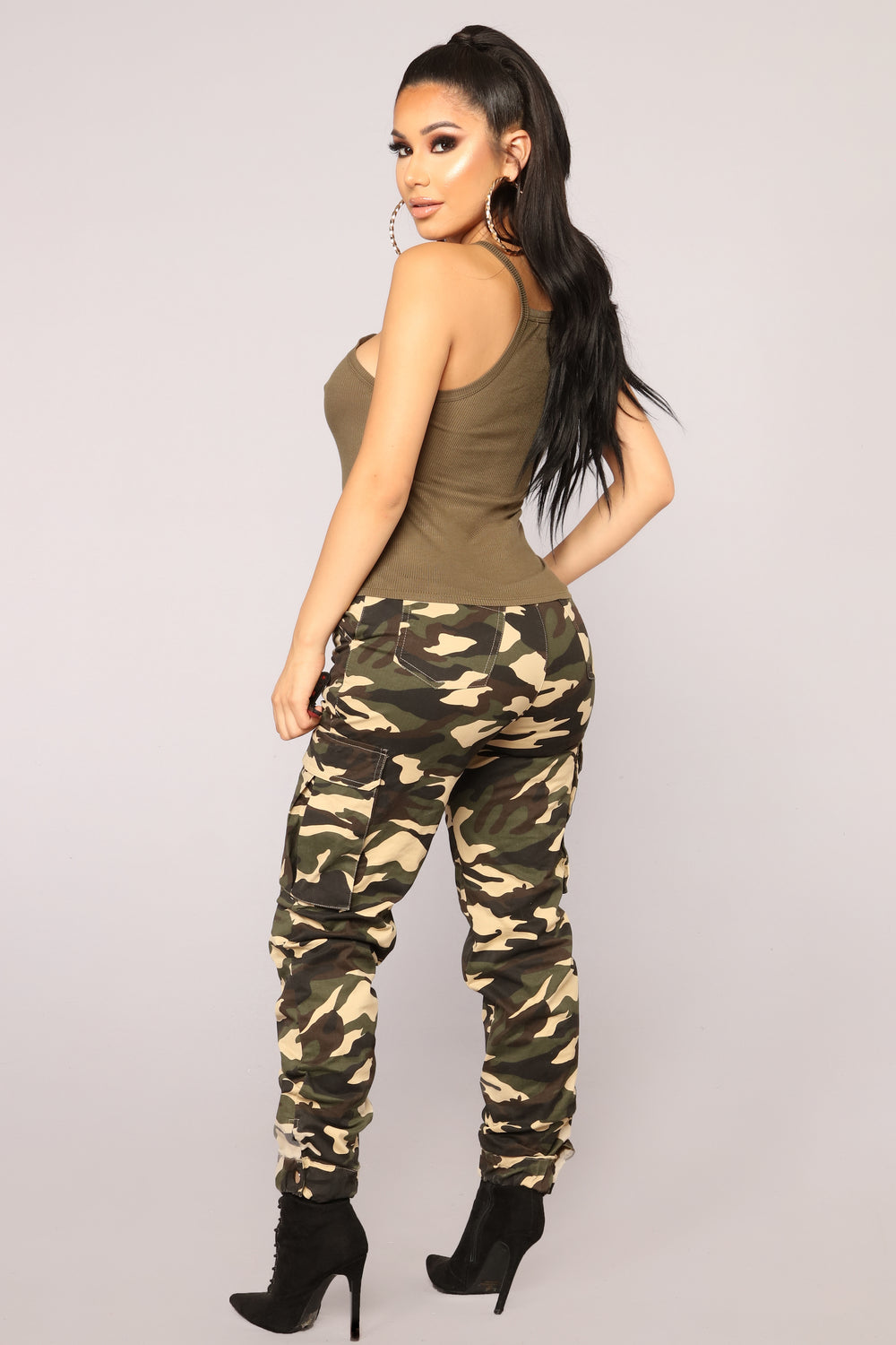 Love Me Baby Tank - Olive