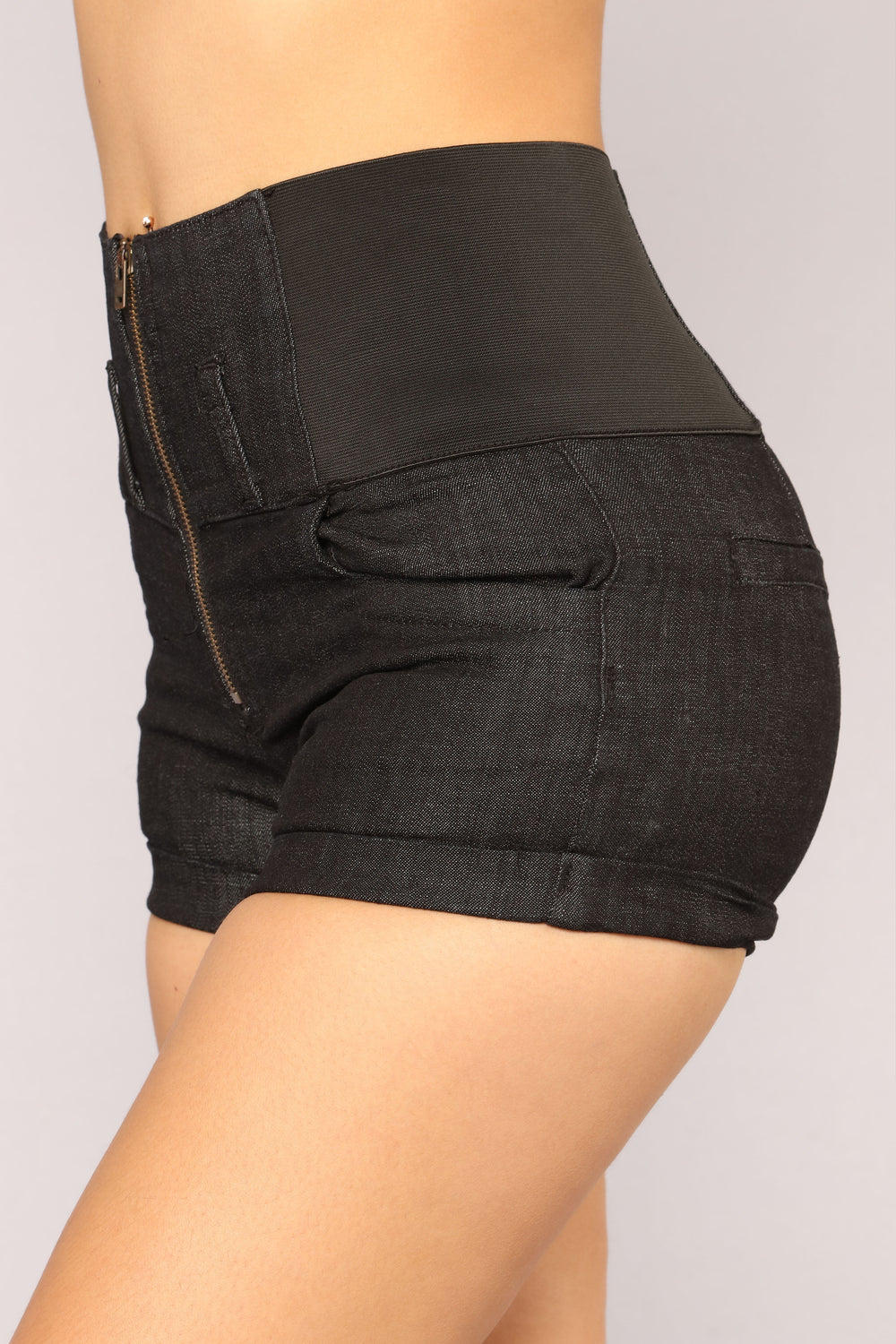 Where's This Going High Rise Shorts - Black