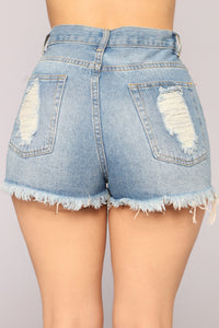 Fools Rush In Denim Shorts - Medium Blue Wash
