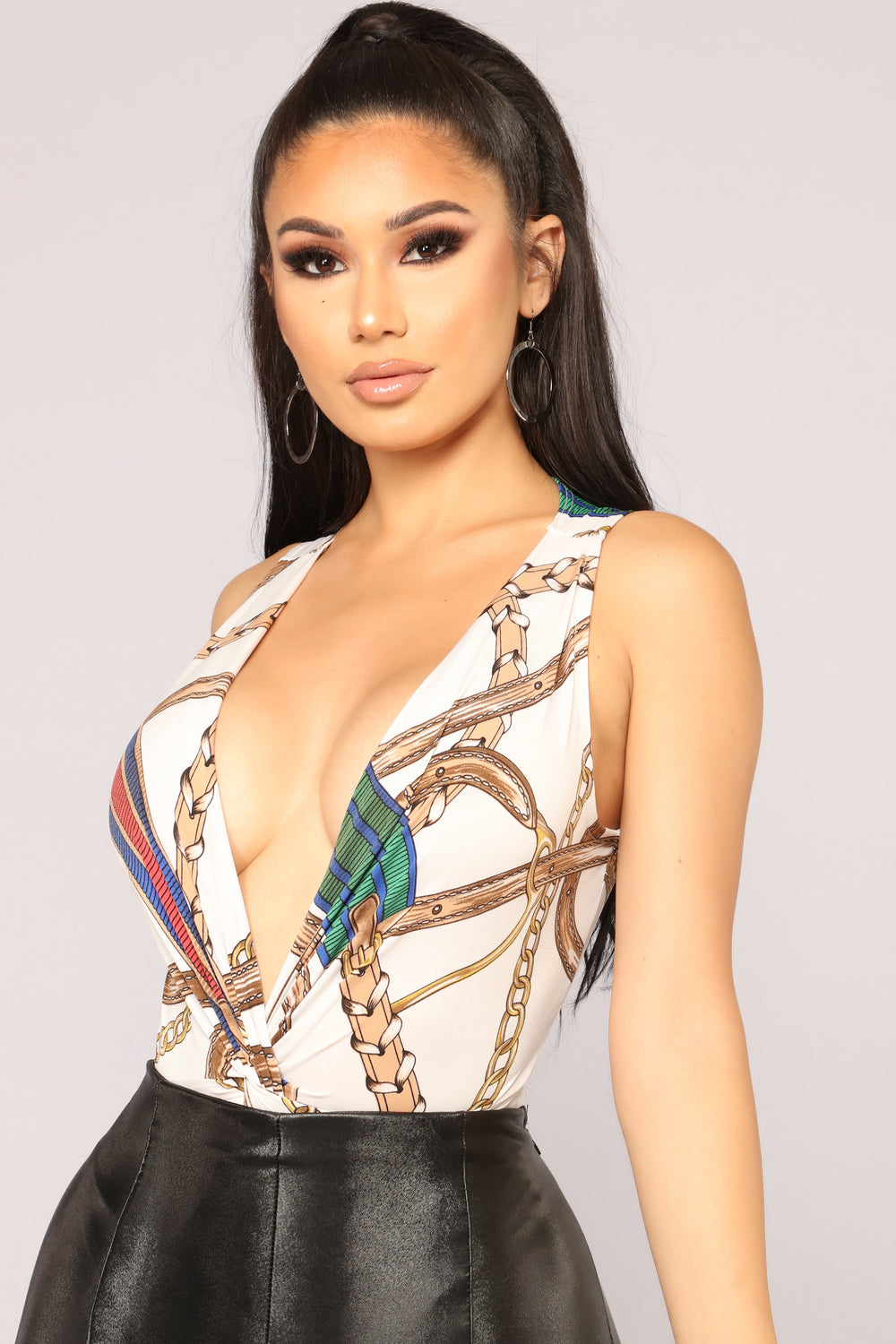 All Chained Up Bodysuit - Beige