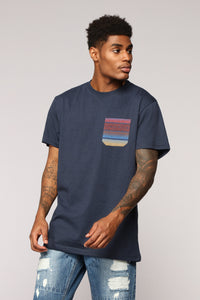 Moon Lit Short Sleeve Tee - Navy
