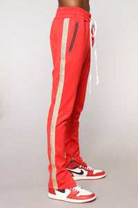 Felix Track Pant - Red