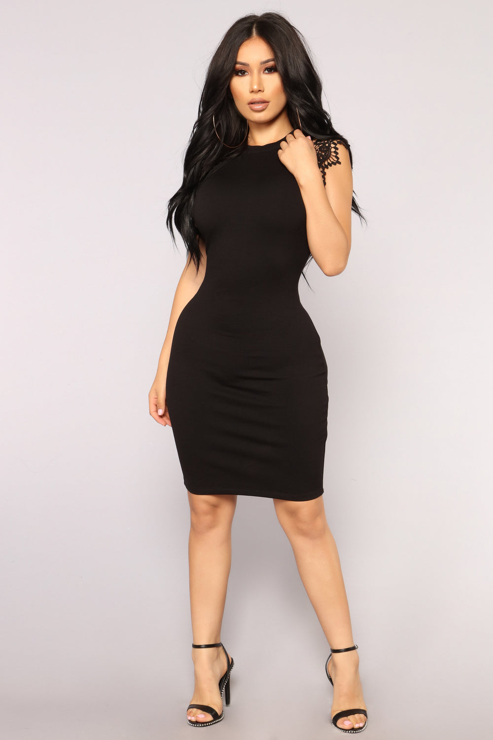 Dasia Lace Dress - Black