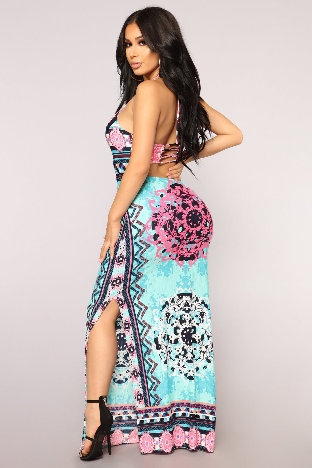 Pool Side Chillen Dress - Aqua