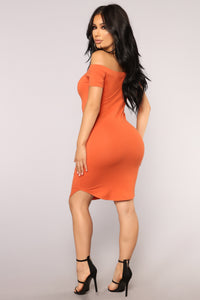 Summer Nights Dress - Rust