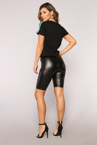 Amaya Biker Shorts - Black