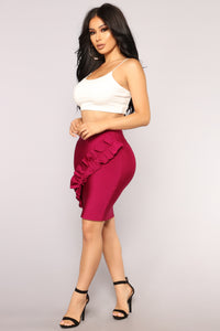 Jemma Bandage Skirt - Wine