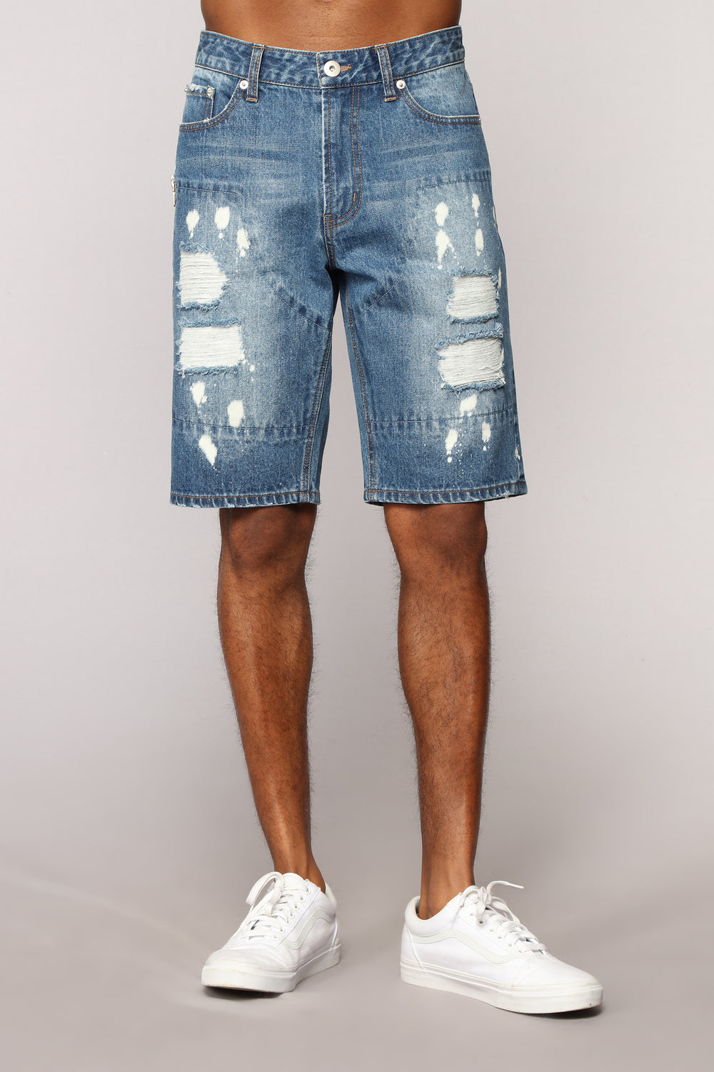 Men's New Mechanic Denim Shorts - Dark Wash