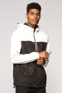 Bad Boy Windbreaker - Black/White