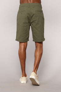 Glover Chino Shorts - Olive