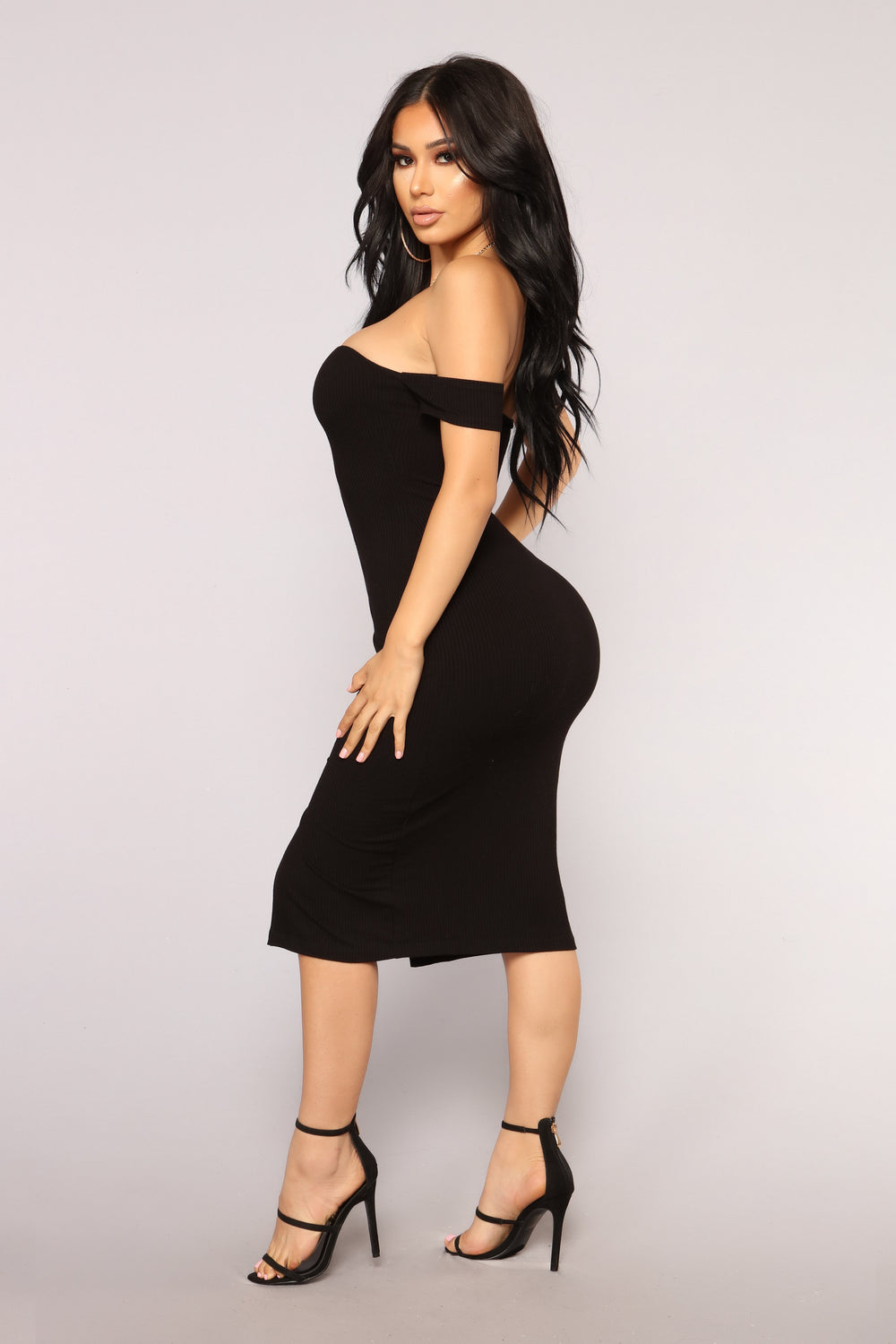 Ashia Zipper Dress - Black