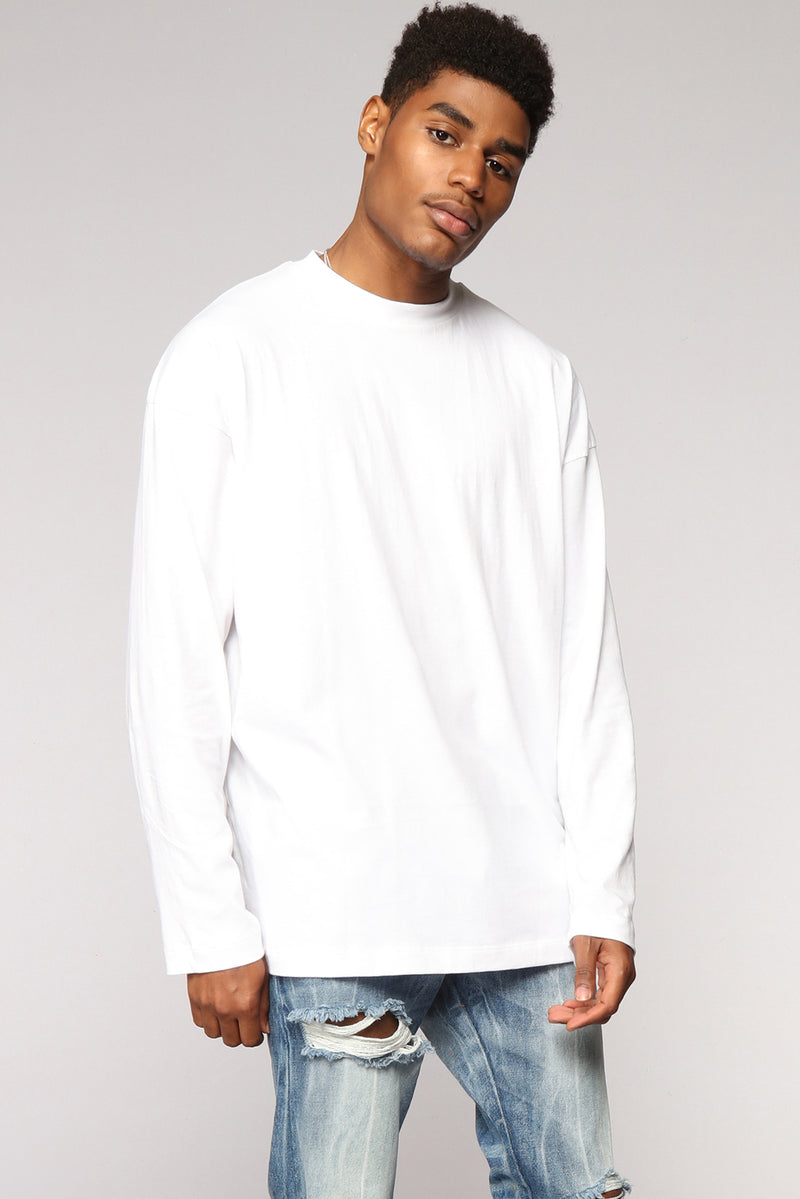 Essential Oversize Long Sleeve Tee - White