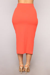 Whatever It Takes Skirt Set - Orange