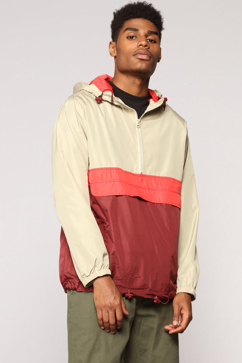 The Takeover Windbreaker - Red/Combo