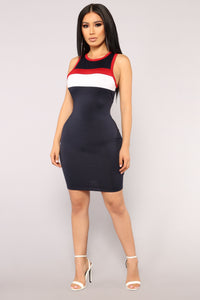Come Look At Me Dress - Navy