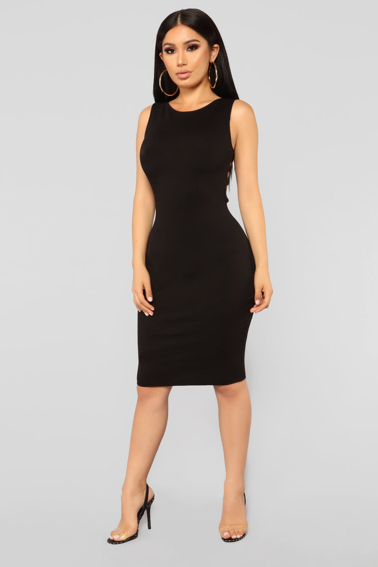 Not So Simple Chick Dress - Black