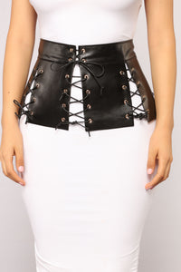 Embrace It Lace Up Belt - Black