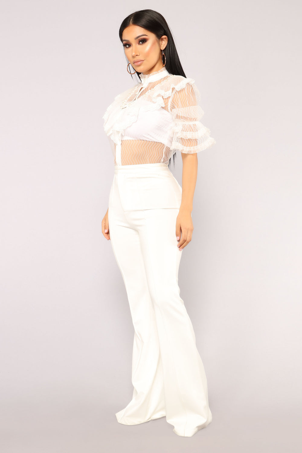 Not Meshing With You Top - White