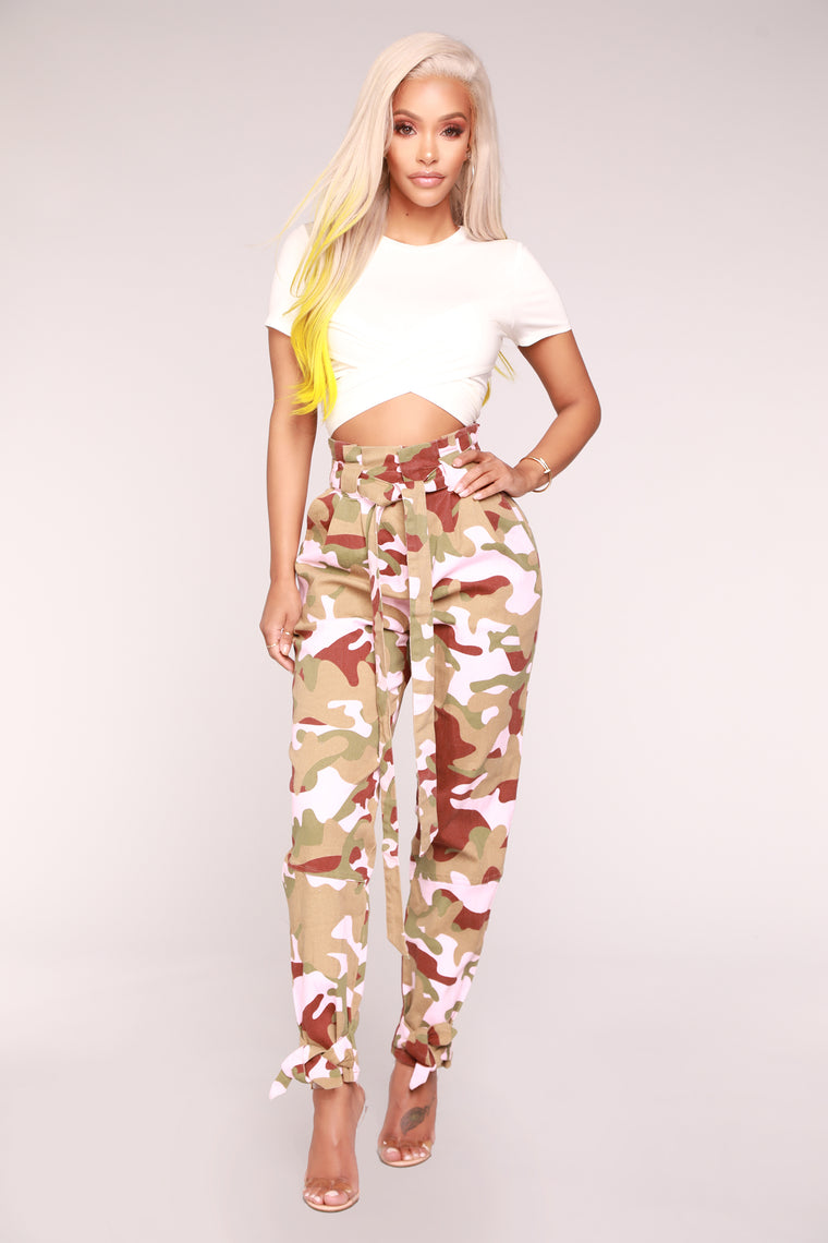 Wrap Your Arms Around Me Crop Top - Ivory