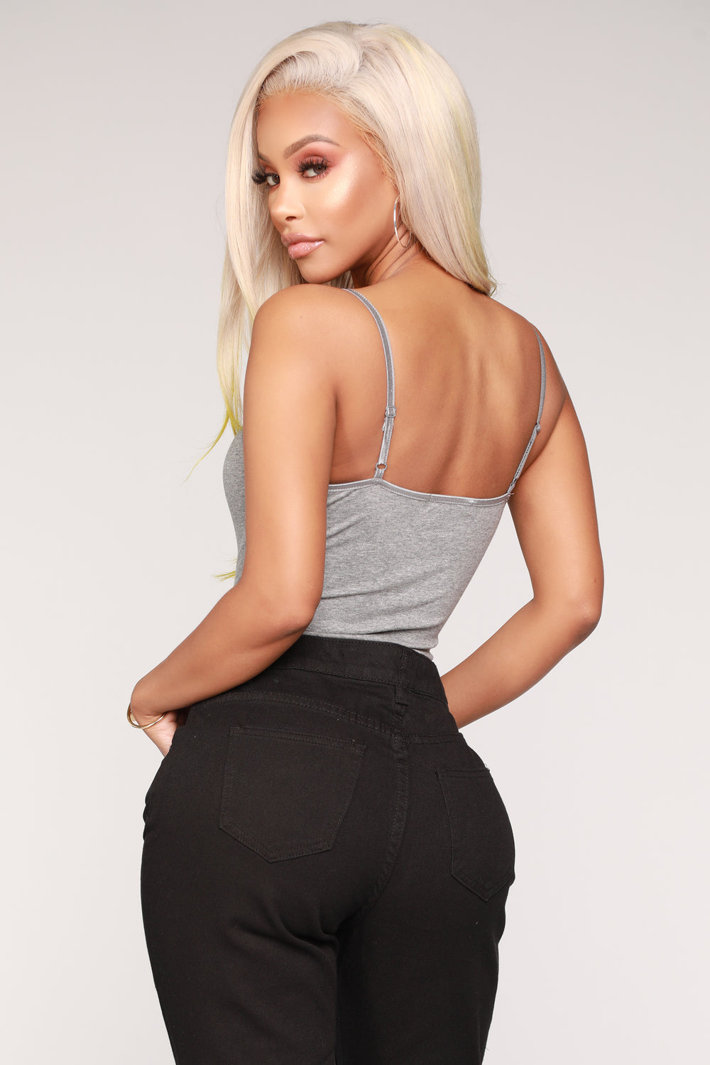 Ricarda Basic Bodysuit - Heather Grey