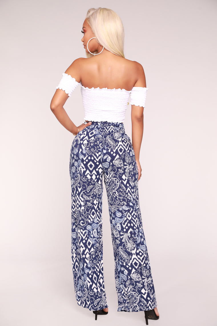 Your New Favorite Print Pants - Blue