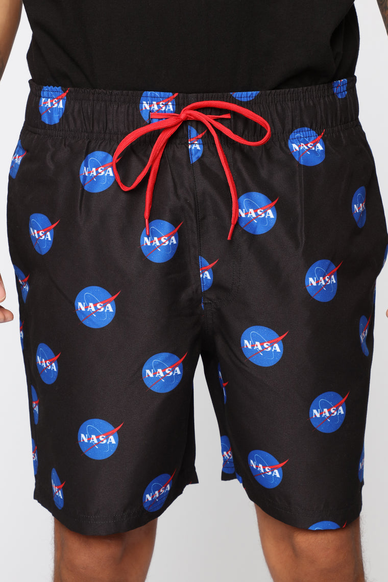 Nasa Swim Trunks - Black/Blue