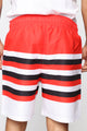 Nasa Stripe Swim Trunks - Red/combo
