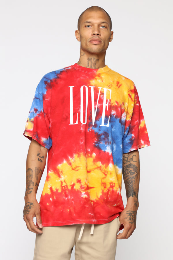 880c3d1aa3f Love Tie Dye Short Sleeve Tee - MultiColor