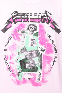 Metallica Shock Short Sleeve Tee - Pink/combo
