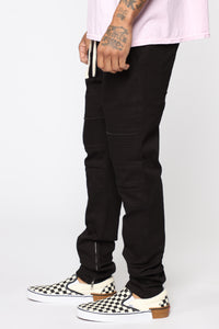 Sprocket Moto Pull On Pant - Black