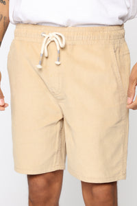 Don't Take Days Off Corduroy Shorts - Khaki