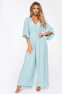 All My Love Jumpsuit - Light Blue