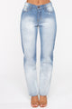 Stars In Her Eyes Boyfriend Jeans - Medium Blue Wash
