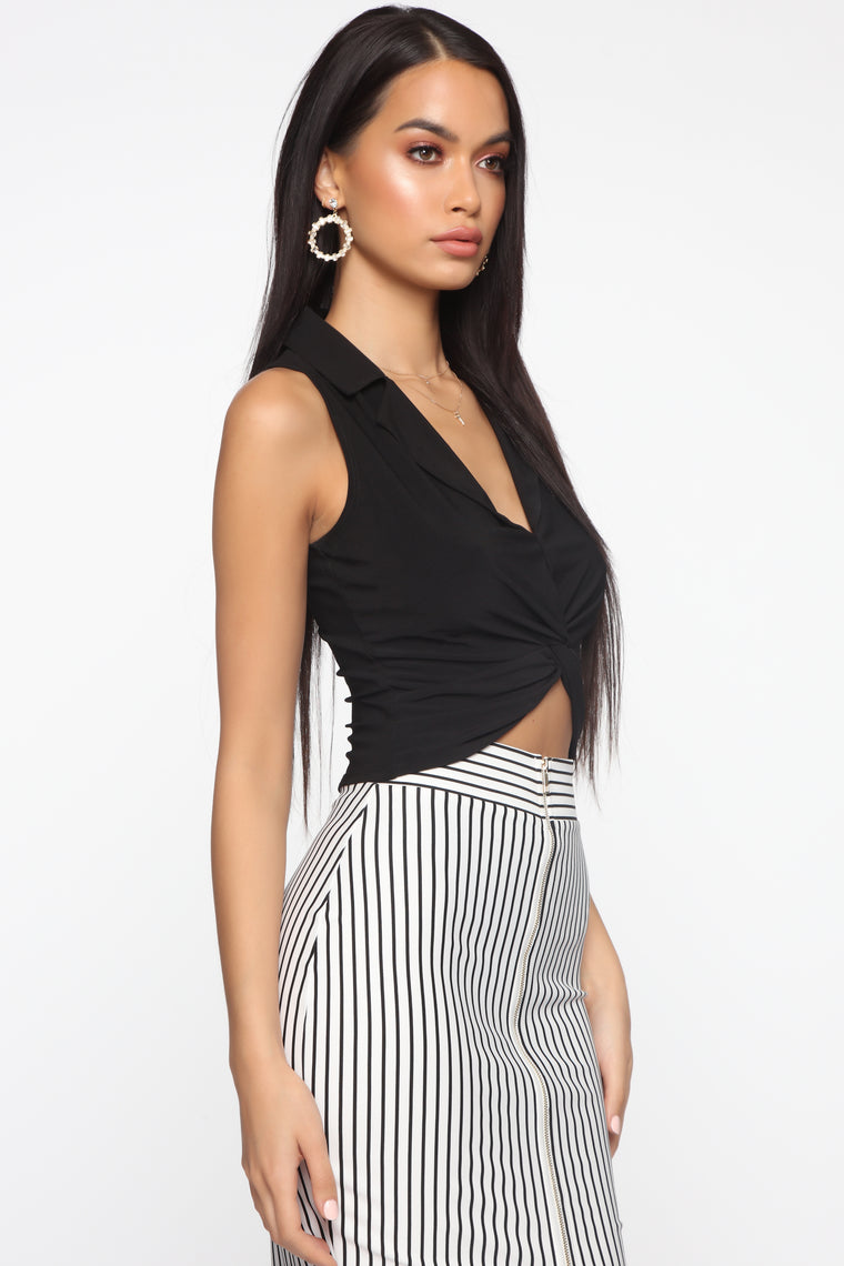Got You Twisted Top - Black
