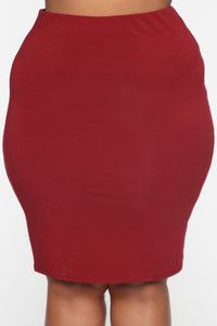Surrendered Heart Skirt - Burgundy Angle 2
